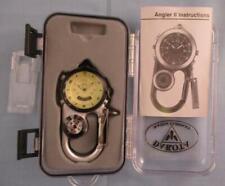 Dakota Angler II 2 Watch Company Clip Compass Silver Alarm Stopwatch Digital