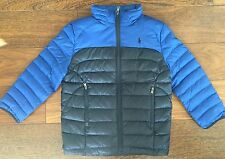 POLO RALPH LAUREN $135 Boys Down Puffer Jacket Coat Navy Royal Blue 6 NWT