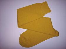 Calze Uomo Lungo Maglia Rasata SENAPE 100% Cotone Makò tg. 12 (43/44)