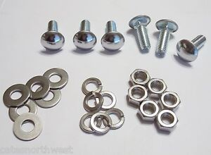 Ford Round Head Bumper Bolts Bolt 7/16 x 1-1/2""