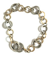 Tiffany & Co.18k Gold and 925 Sterling Silver Circle Link Bracelet ( RARE )