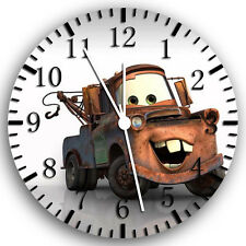 "Disney Cars Mater wall Clock 10"" will be nice Gift and Room wall Decor W130"