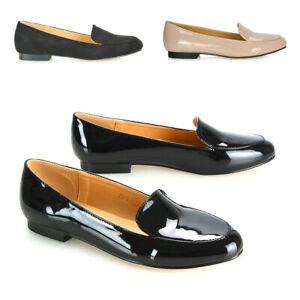 Womens Low Heel Loafers Ladies Slip On Moccasins Pumps Work Office School Shoes