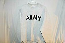 Army Sweatshirt PT Gray Small Crew Neck Physical Training Pull Over USGI NSN