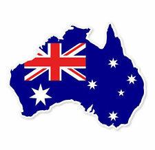Australia Map Flag Sticker Vinyl Decal 4-1280