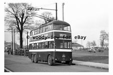 pt9550 - Doncaster Trolleybus BDT 121 at Racecourse , Yorkshire - photograph