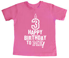 """3 Birthday T-Shirt """"Happy Birthday to Me"""" 3rd Third Three Party Clothes"""