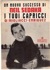 spartito musicale MIGLIACCI- ENRIQUEZ RCA ITALIANA I TUOI CAPRICCI