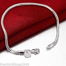 Damenarmband Armband  925 Sterlingsilber plt. 20cm Silber Kette Schmuck (S2)