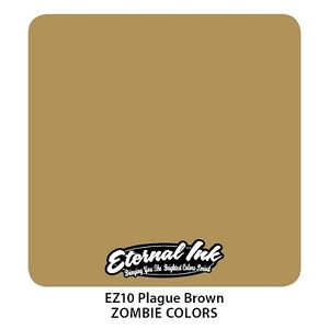 Genuine Eternal Tattoo Ink - Plague Brown - Expired But Brand New 2oz (60ml)