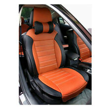 Front + Rear Fashion Car Seat Cushion Covers PU Leather Full Set For all car