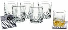 Lead-Free Crystal Double Old-Fashioned Highball Water Glasses, SET OF 6, Heav...