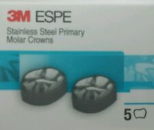 3M ESPE 5 Stainless Steel Primary Baby Molar Crowns All sizes Dental Pediatric