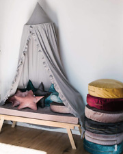 Momaid Baby Bed Canopy with Frills Crib Reading Nook Game Tent for Kids Hanging