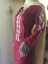 Stitched Pakistani Salwar Kameez (3pcs) - Readymade -'Medium' Party Wear