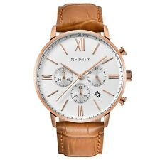 Infinity SP 06 Rosegold Men's Classic Chronograph Watch -Luxury Watch - Leather