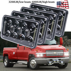 "DOT Approved 4x6"" LED Projector Headlights for GMC C4500 Chevrolet C5500 Kodiak"