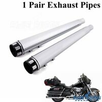"4"" Megaphone Slip On Exhaust Muffler Silencer Pipes For Harley Touring Road King"