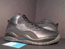 2005 Nike Air Jordan X 10 Retro BLACK WHITE STEALTH OVO 310805-010 NEW 10.5