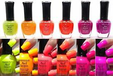 """6 PCS Kleancolor Nail Polish Neon """"Bay of Colorfall"""" KNP4 Lacquer Set"""