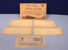 Santa Fe Grand Canyon 40' Boxcar Set / O Scale Champ Decals CN-137 / Vintage
