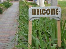 Mold WELCOME sign Plaque concrete plaster mold garden decor D23