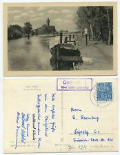 39147 - Landpoststempel: Gnevsdorf über Lübz - 26.10.1956 - Ansichtskarte
