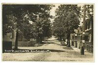 RPPC Front St at RR NEW COLUMBIA PA Union County White Deer Real Photo Postcard