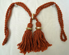 "Curtain  Chair Tieback -  18""spread with 3 1/2""tassel = Rust #275"