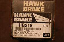 Hawk  HB218 Race Compound Honda Accord Civic CRX Front Brake Pads
