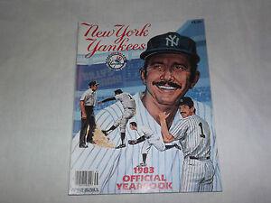 VINTAGE BASEBALL 1983 NEW YORK YANKEES OFFICIAL YEARBOOK