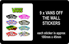 9 x Vans of the wall stickers, skateboards, scooters, bmx