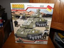 BEST-LOCK, U.S. ARMY ARMY STRONG KIT, BUILDS 2 TANKS, 4 SOLDIERS, NIB, 2011