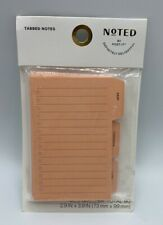 Post It Note Pack Peach Tab Cutouts 3 Pads 90 Total Notes New In Package