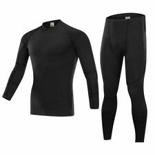 Men Thermal Underwear Set Long Sleeve Top & Long Johns Pants Thickened Fitness C