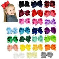 "6"" Big Bow Hair Bow Pin Alligator Clip Girls Ladies"