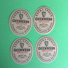 4 Extra Stout  Guinness St. James Gate Dublin Brian's Bar Beer Bottle Label