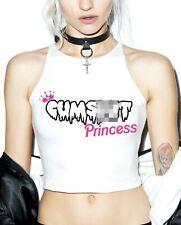 CUM SL*T Princess Crop Top - Cute Women's Cropped Vest Top - Sexy Play Dirty