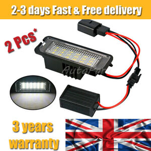2x LED Number License Plate Light Lamp For VW GOLF MK4 MK5 MK6 MK7 Seat Polo UK