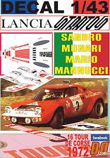 DECAL 1/43 LANCIA STRATOS HF S.MUNARI TOUR DE CORSE 1972 DnF (01)