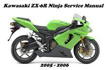 New listing Kawasaki Zx-6R Ninja Service Manual 2005 2006 Repair Maintenance Zx636 Zx 636