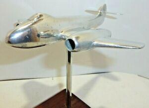 "Desk display Aircraft  Ashtray Gloster Meteor 6"" span Polished Aluminium"