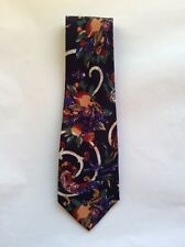 Men's Neck Tie - 100% Silk - Dark Blue/Brown/Cream/Green