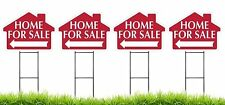 Home For Sale - RED - House Shaped Sign Kit with Stands - 4 Pack(K-S110-4PK)