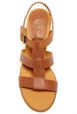 NIB KORKS Cornelia Size 9 Brown Leather Block Heel Sandal Ankle Strap Kork-Ease