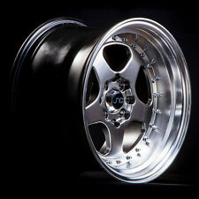 JNC 010 16X9 4X100/4X114.3 +15 GUNMETAL MACHINED LIP SET OF 4 WHEELS