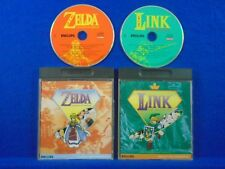 CDI Philips x2 Games ZELDA The WAND OF GAMELON + LINK The FACES OF EVIL ENGLISH