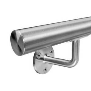 Stainless Steel Handrail - Satin Brushed Finish