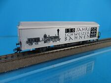 Marklin 4735 SBB HBIS Closed Goods Car Silver 150 Jahre Schweizer Bahnen