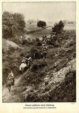1915 Russisch-Polen * k.u.k. Ulanen passieren einen Hohlweg *  WW1